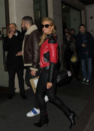 Paris Hilton - Leaves The Mayfair Hotel in London