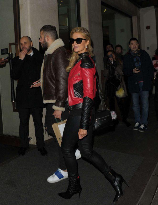 Paris Hilton – Leaves The Mayfair Hotel in London