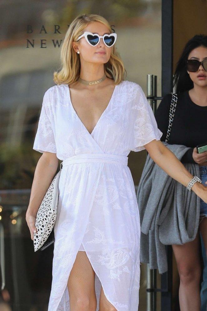 Paris Hilton - Leaving Barneys New York in Beverly Hills