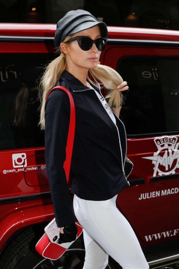 Paris Hilton - Leaving her hotel in Paris