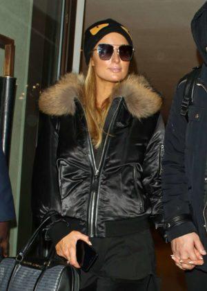 Paris Hilton - Leaving the Mayfair Hotel in London