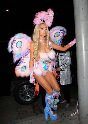 Paris Hilton - Mathew Morrison's Halloween party in West Hollywood