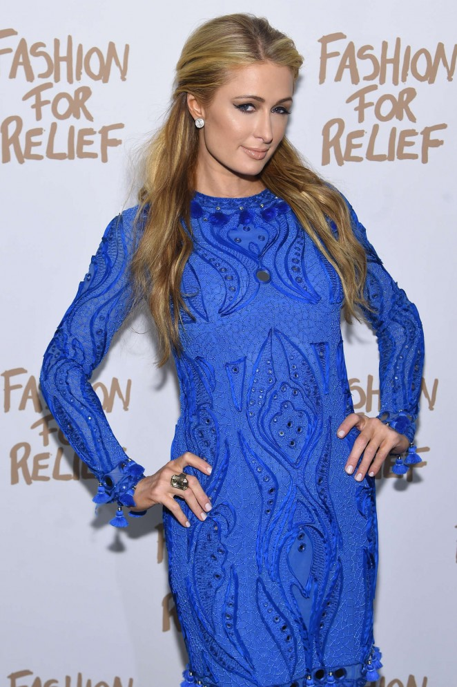 Paris Hilton – Naomi Campbell's Fashion For Relief Charity Fashion Show in NYC