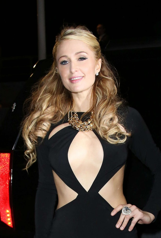Paris Hilton - Night out in Cannes
