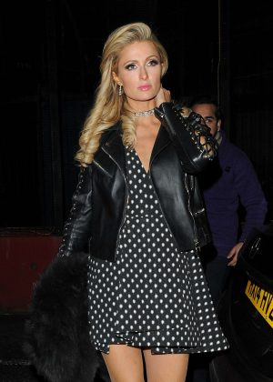 Paris Hilton night out in Mayfair