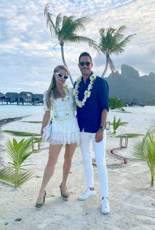 Paris Hilton - On holiday at Four Seasons in Bora Bora