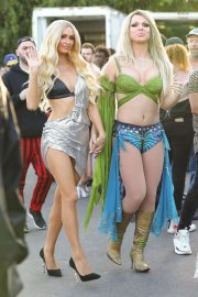 Paris Hilton - On the set of A Wild L.A Music Video