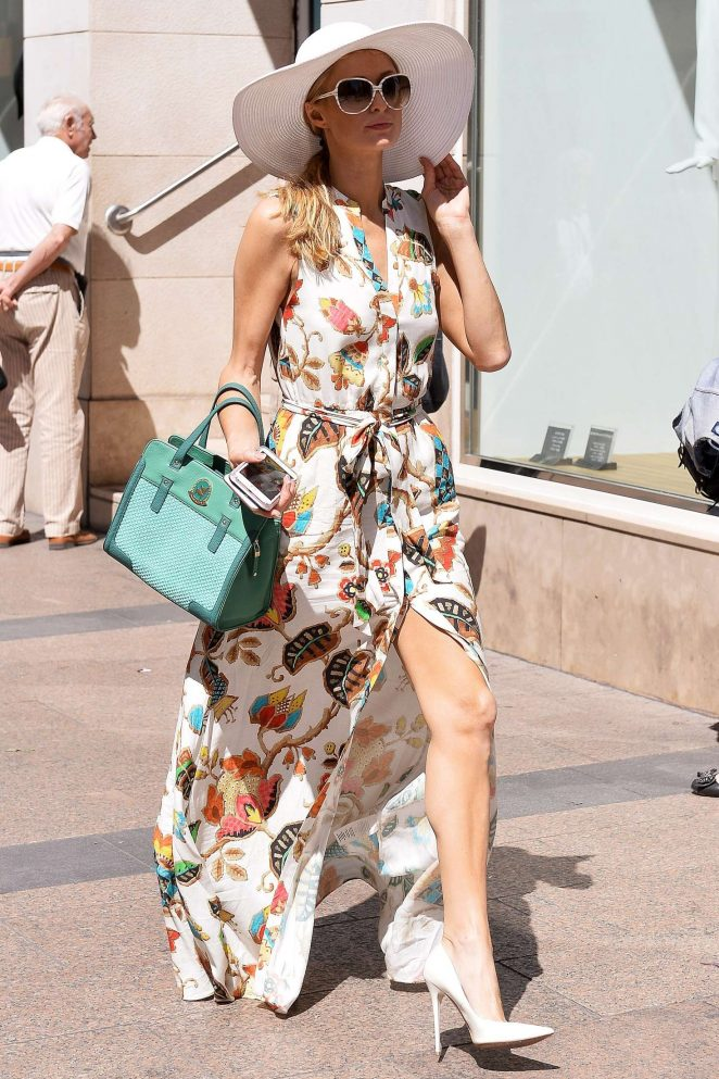 Paris Hilton out and about in Cannes