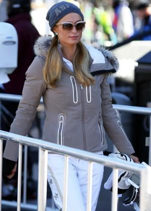 Paris Hilton out in Aspen