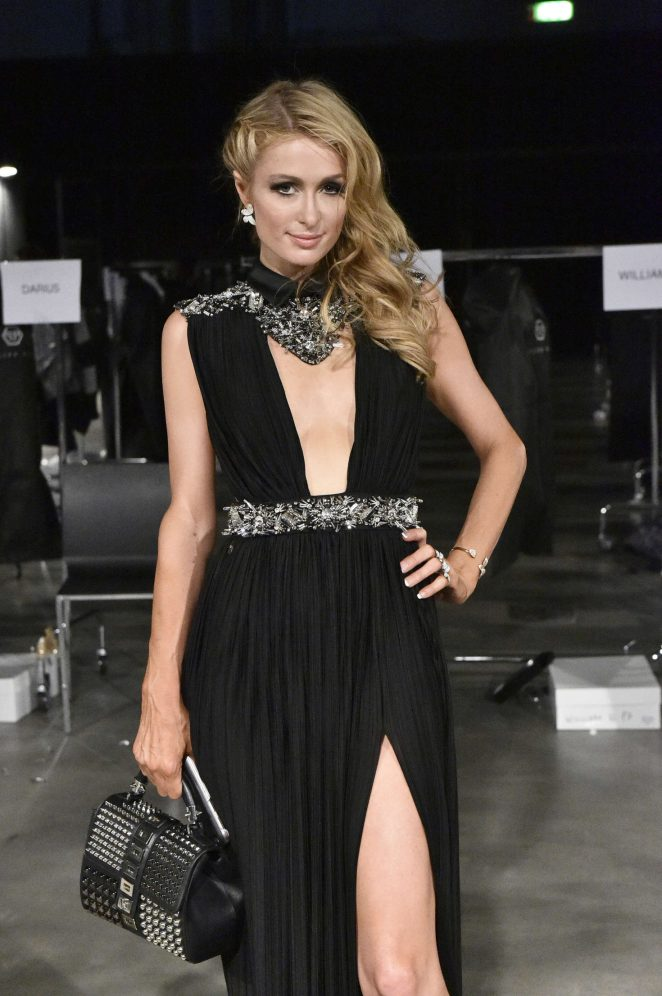 Paris Hilton – Philip Plein Fashion Show 2016 in Milan Paris Hilton