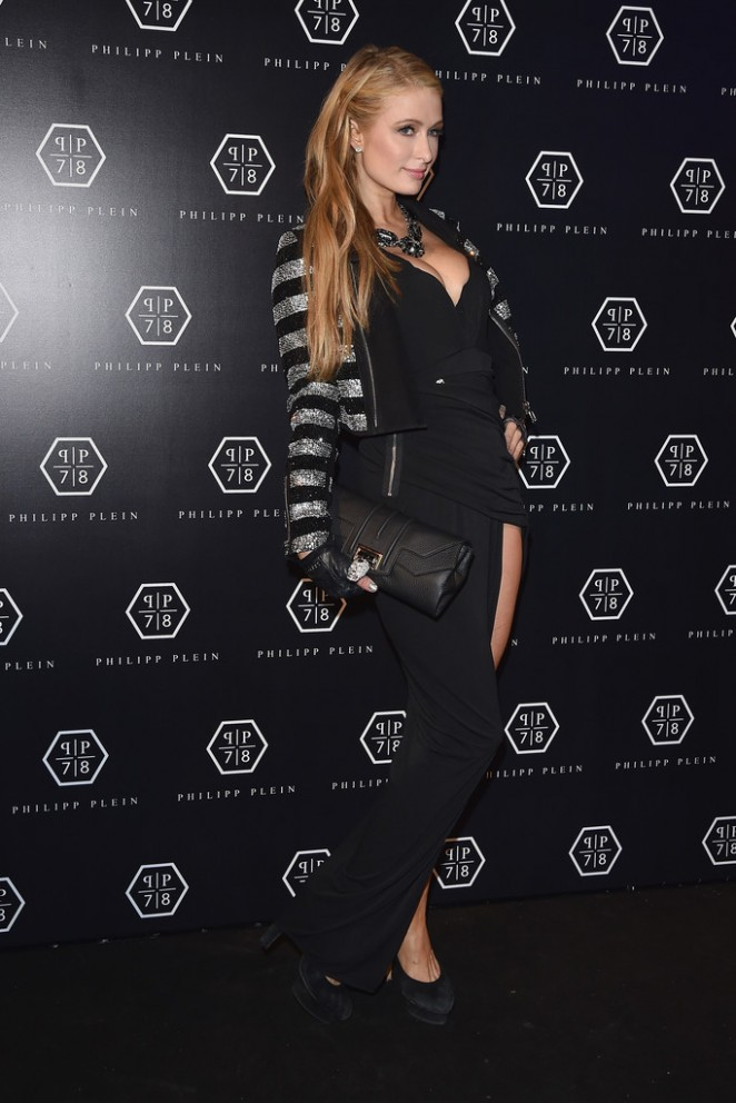 Paris Hilton: Philipp Plein Fashion Show 2015 -09
