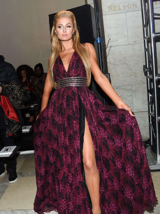 Paris Hilton - Phillip Plein Show at 2017 NYFW in New York