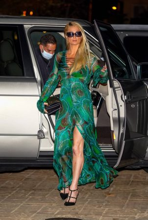 Paris Hilton - Seen after dinner at Nobu in Malibu