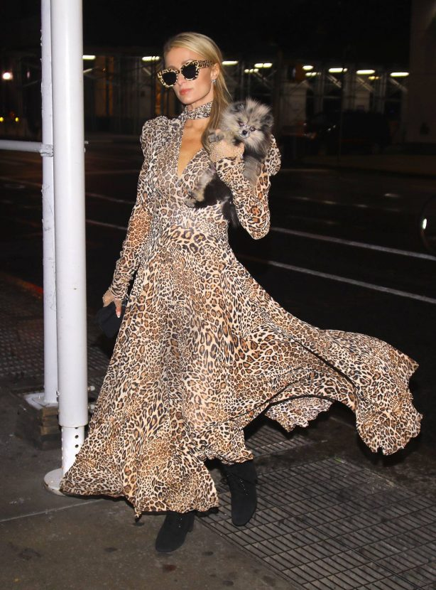 Paris Hilton - Seen after meeting friends for dinner in New York