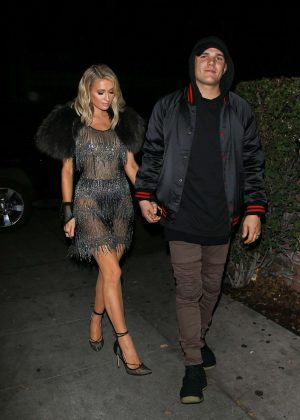 Paris Hilton - Seen at Delilah nightclub in West Hollywood