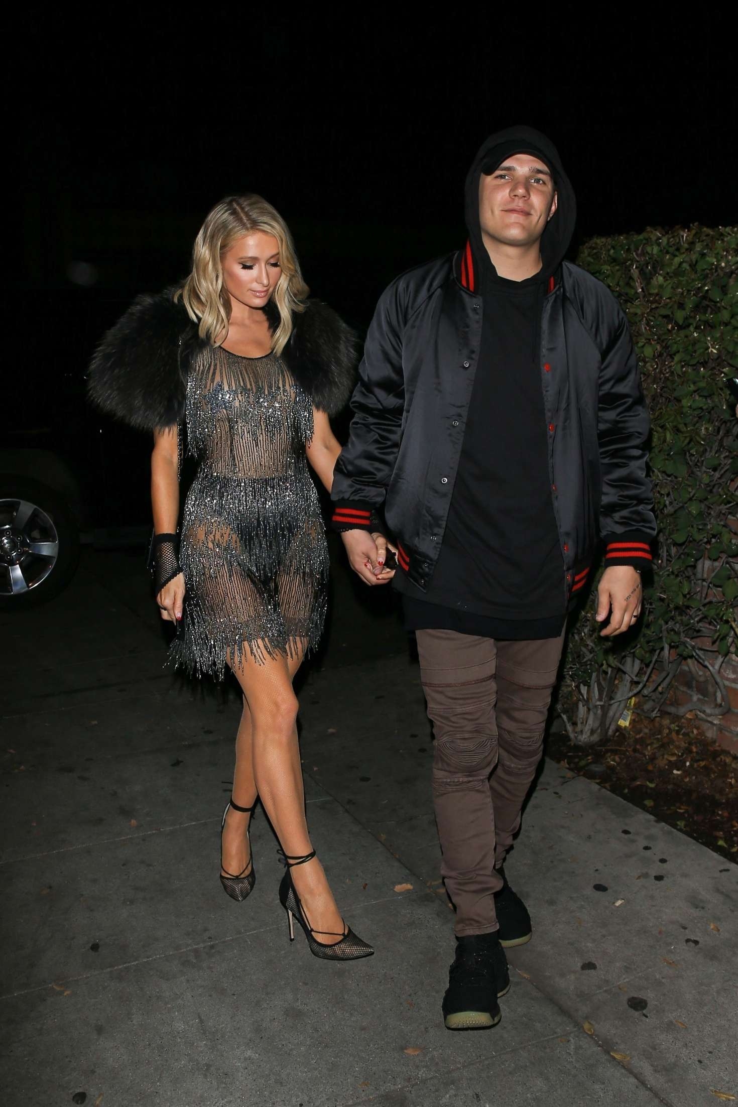 Paris Hilton - Seen at Delilah nightclub in West Hollywood