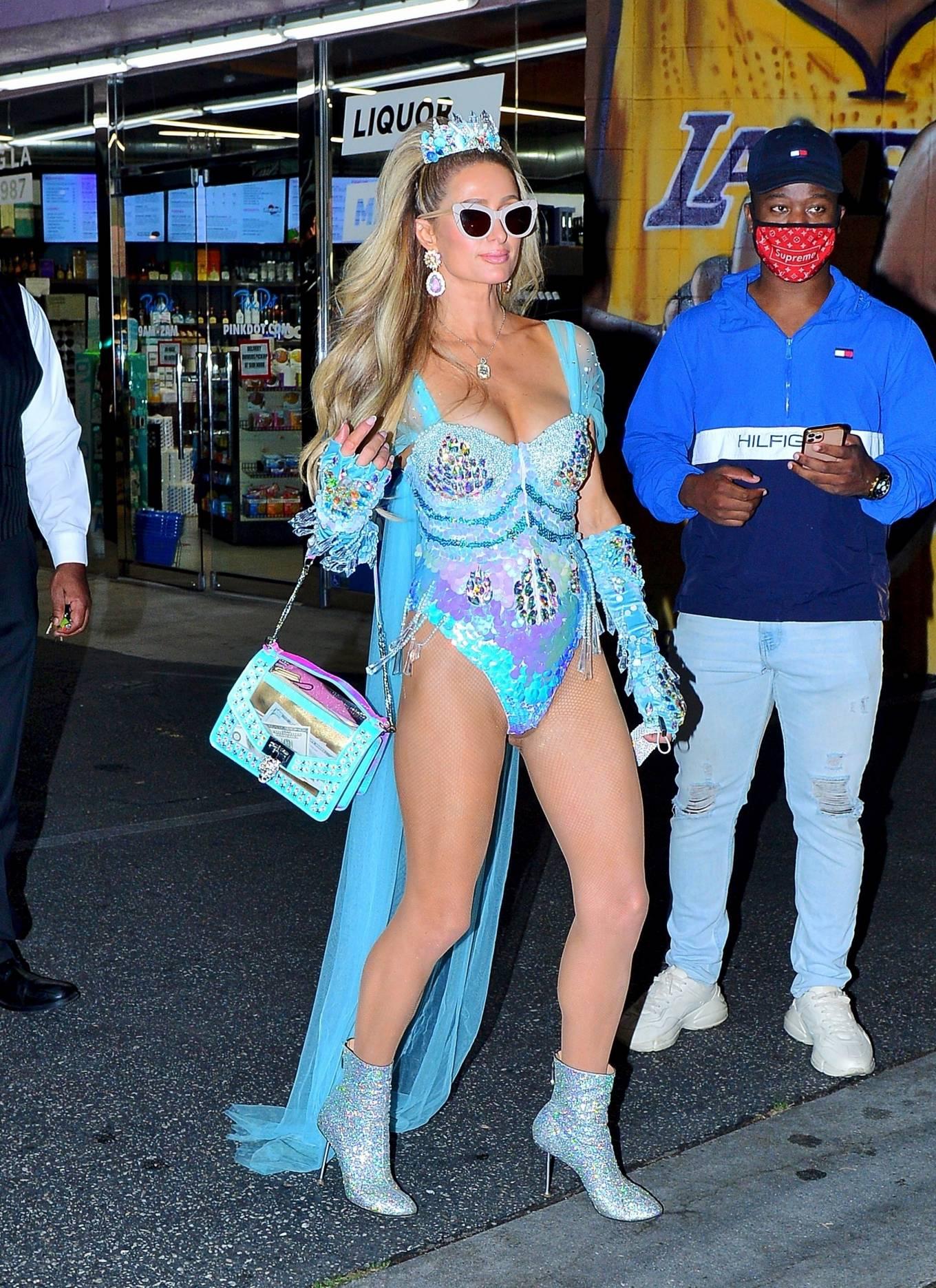 Paris Hilton - Seen while leaving a Halloween party in LA
