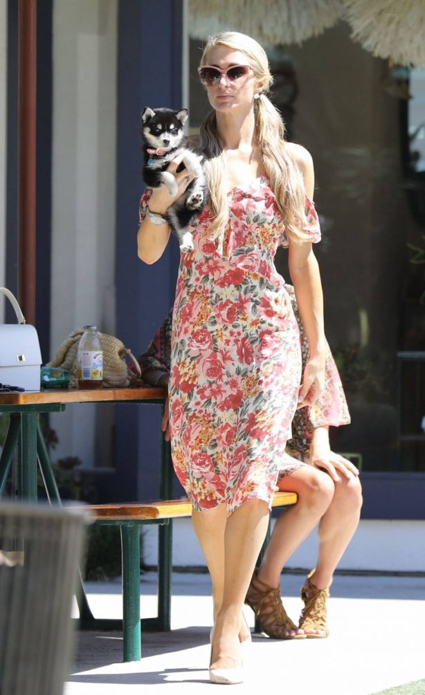 Paris Hilton - Shopping candids in Malibu