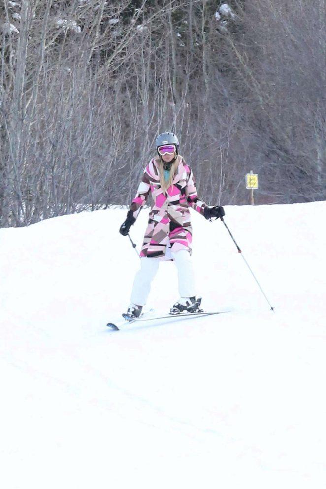 Paris Hilton Skiing in Aspen -25