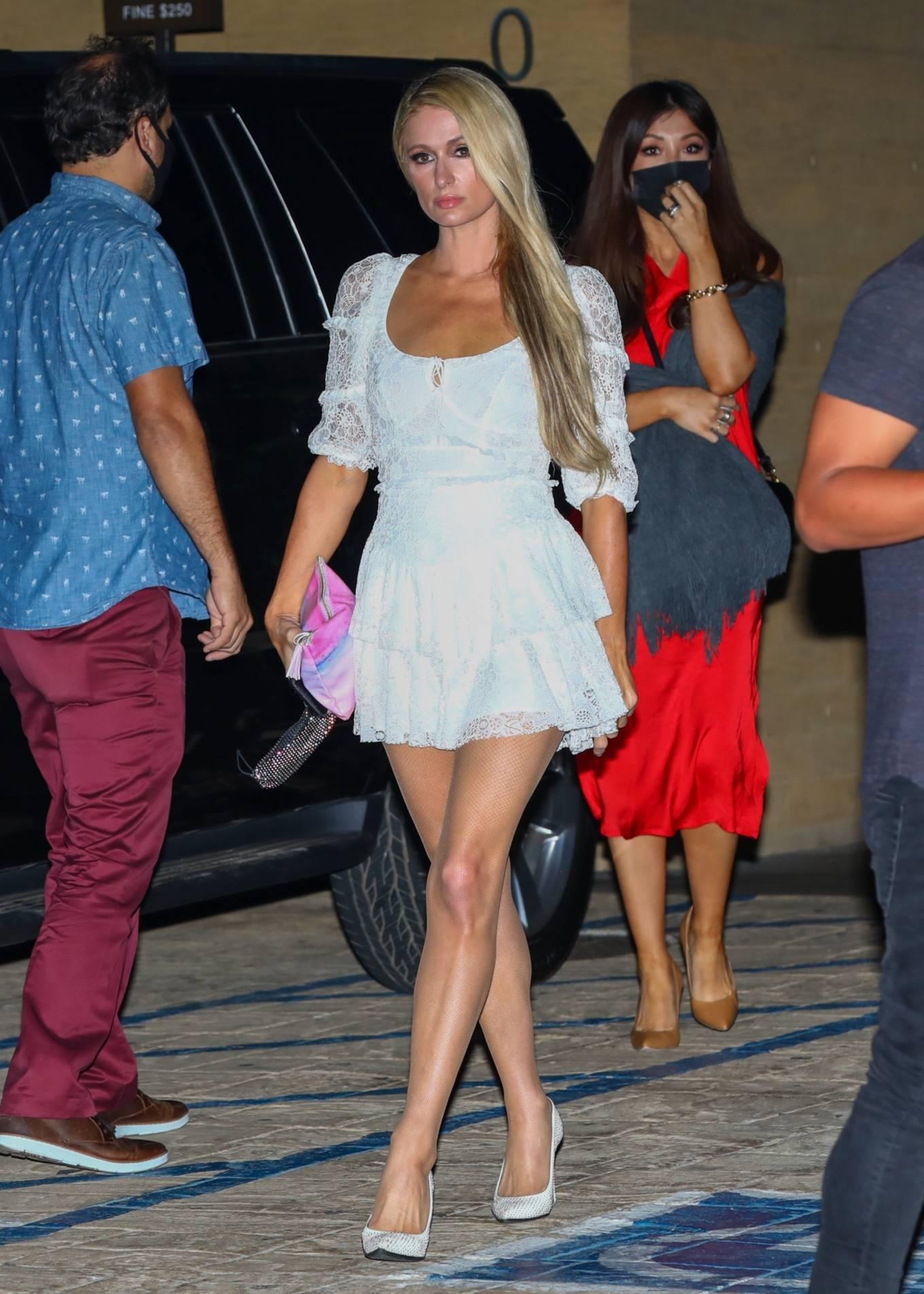 Paris Hilton - Spotted outside Nobu in Malibu