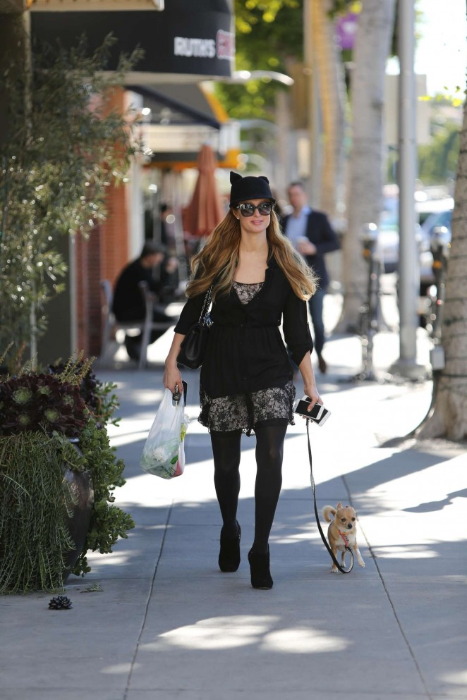 Paris Hilton out & about in Beverly Hills