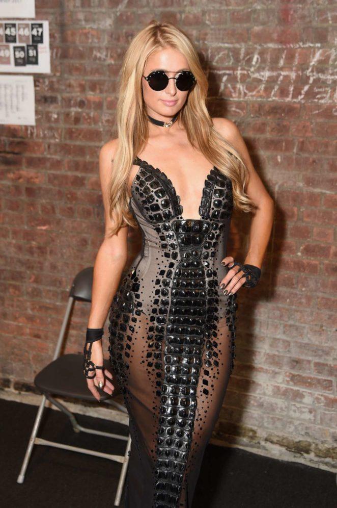 Paris Hilton – The Blonds show at New York Fashion Week 2017