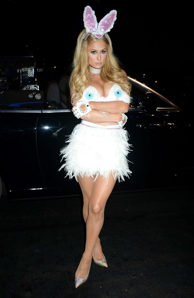 Paris Hilton: Treats Magazine 7th Halloween Party -08