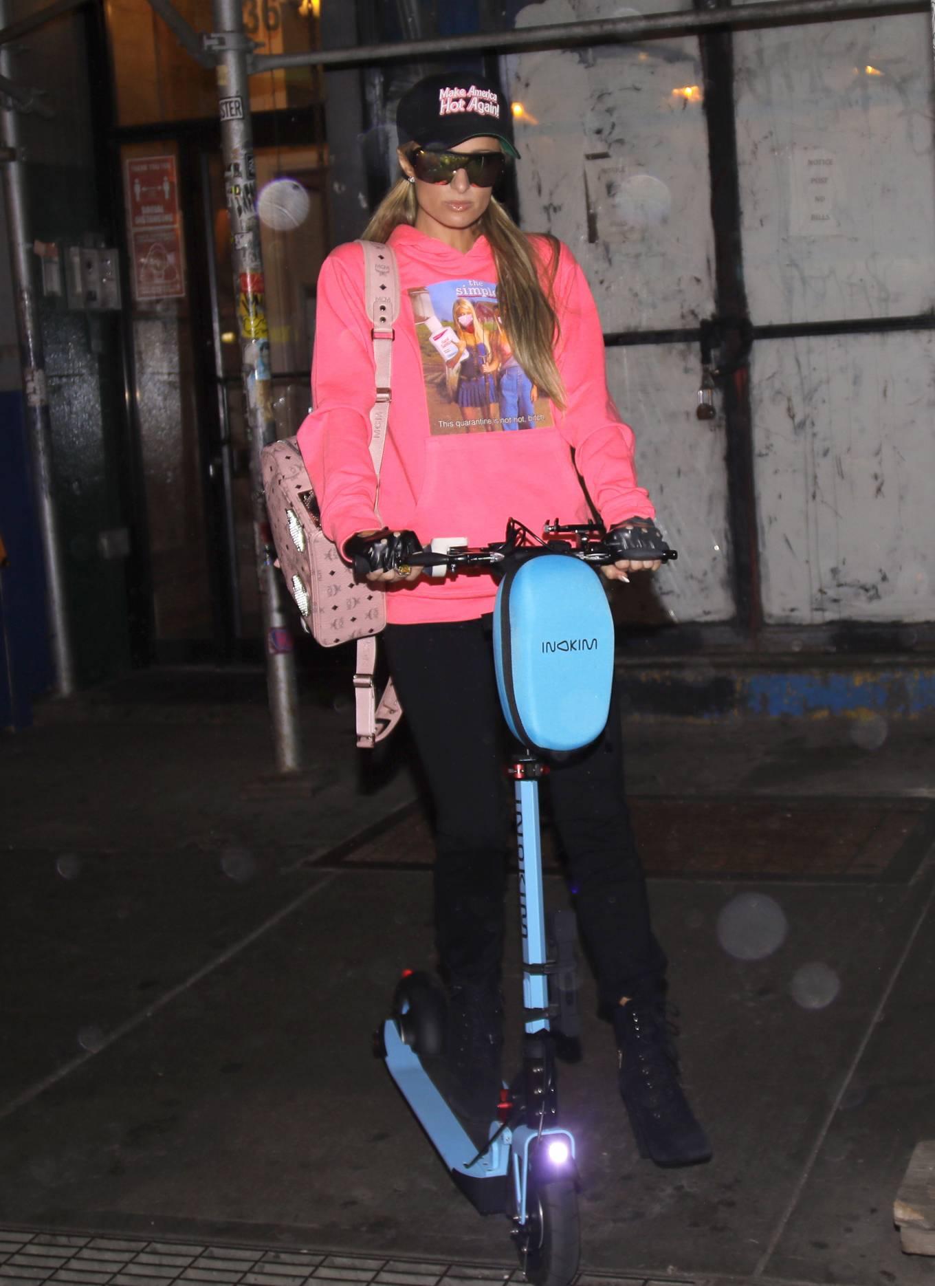 Paris Hilton wears a 'Make America Hot again' cap in NYC