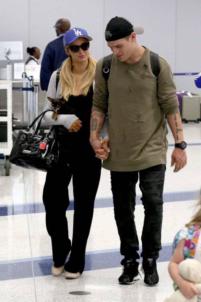 Paris Hilton With Boyfriend at LAX Airport in LA