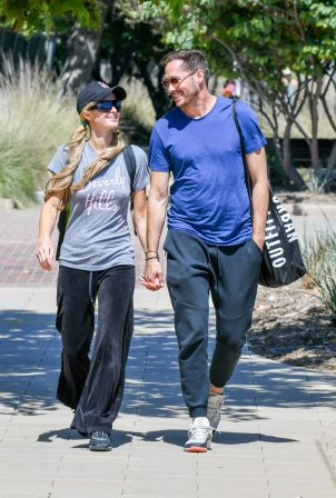 Paris Hilton with boyfriend Carter Reum out in Malibu
