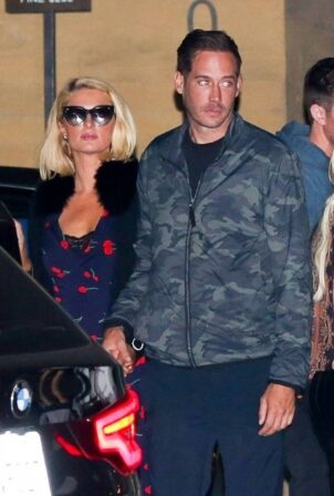Paris Hilton - With Carter Reum on dinner date at Nobu in Malibu