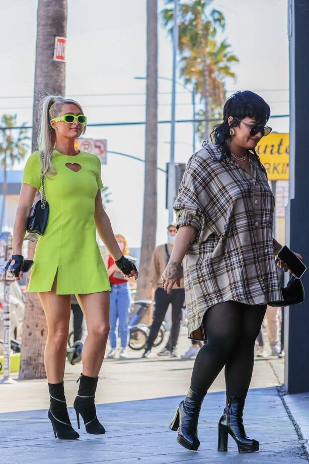Paris Hilton - With Demi Lovato Shopping while recording their new show in West Hollywood