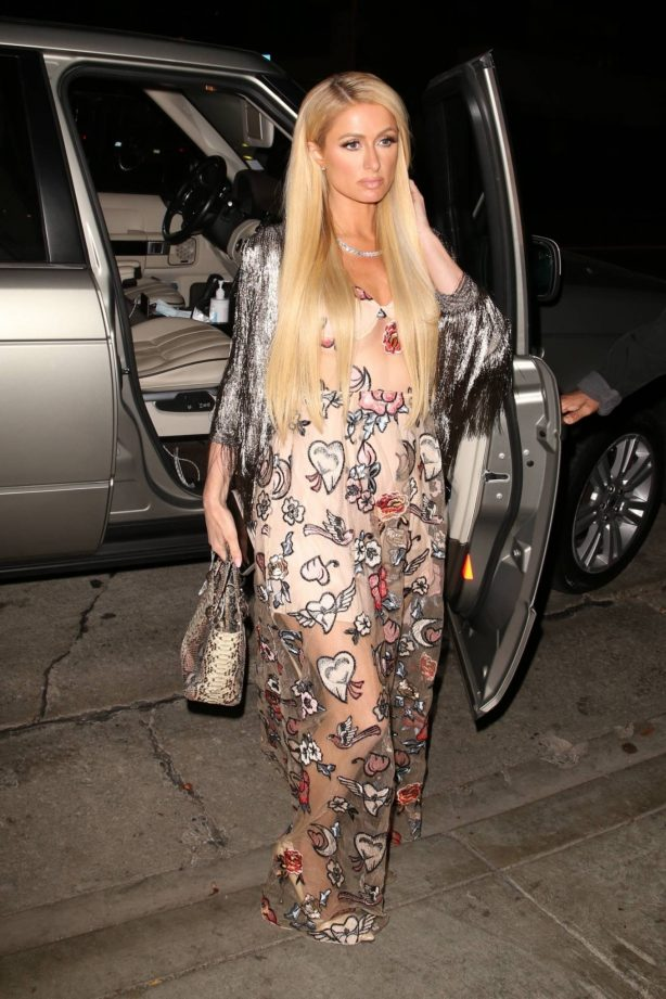Paris Hilton - With fiancé Carter Reum out for a dinner in West Hollywood