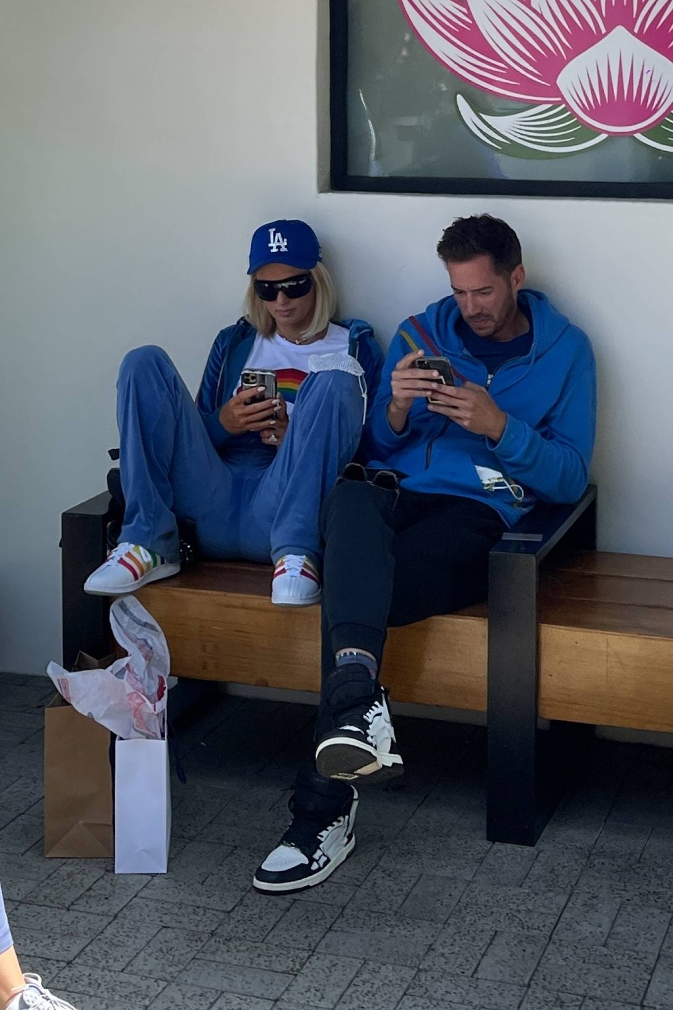 Paris Hilton - With fiance Carter Reum out in Malibu