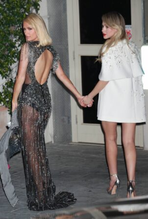 Paris Hilton - With Maria Bakalova at 2021 Oscar party at Sunset Tower Hotel in Los Angeles