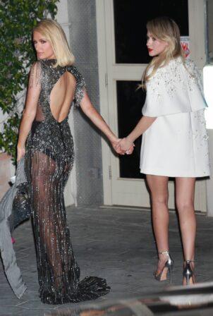 Paris Hilton - With Maria Bakalova at 2021 Oscar party at Sunset Tower Hotel in Los Angeles