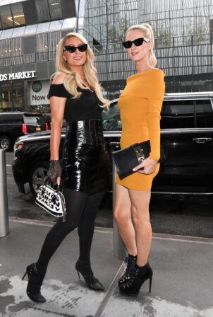 Paris Hilton - With Nicky Hilton at New York Fashion Week event at Hudson Yards