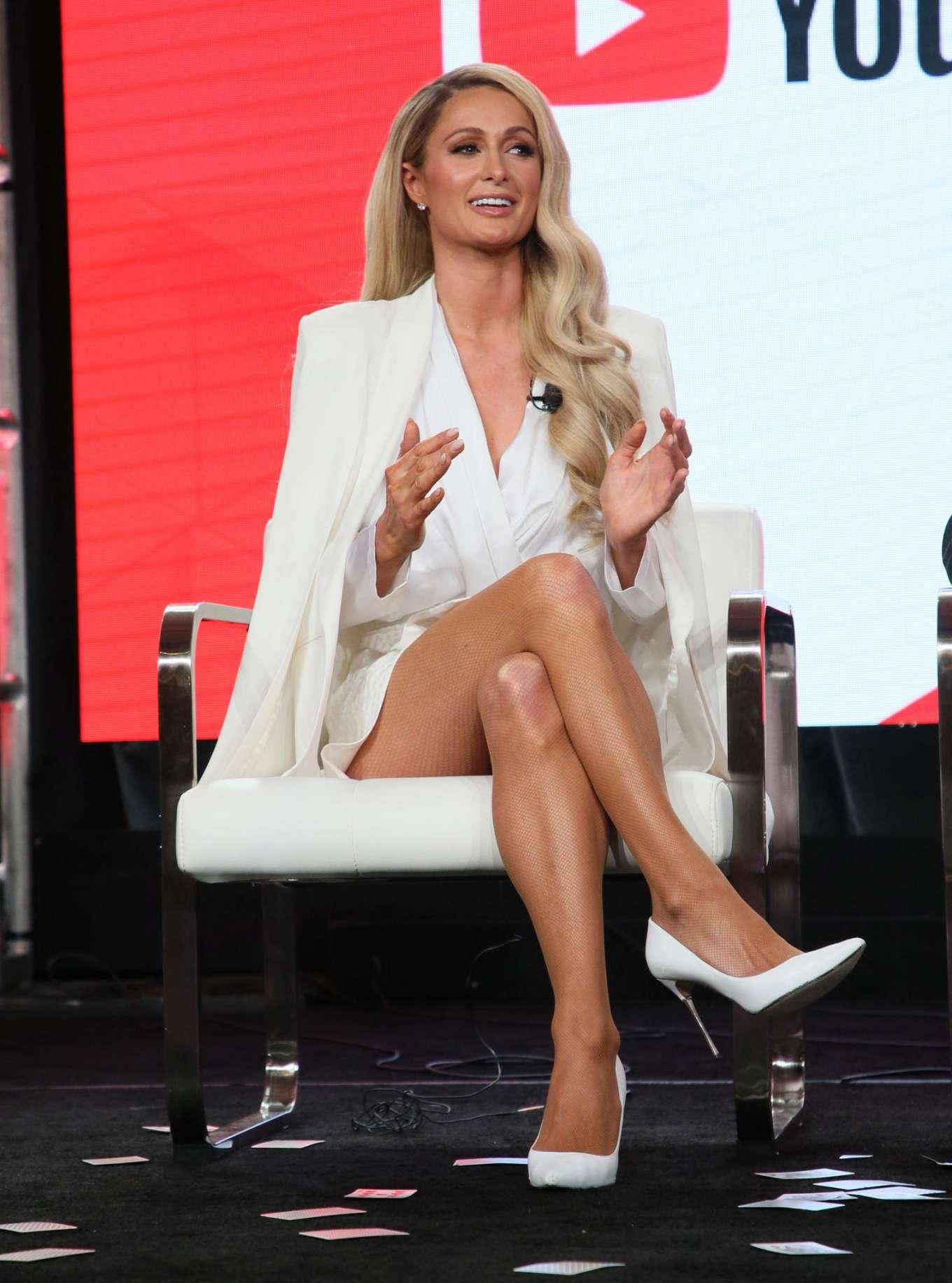 Paris Hilton - YouTube segment of the 2020 Winter TCA Tour in Pasadena