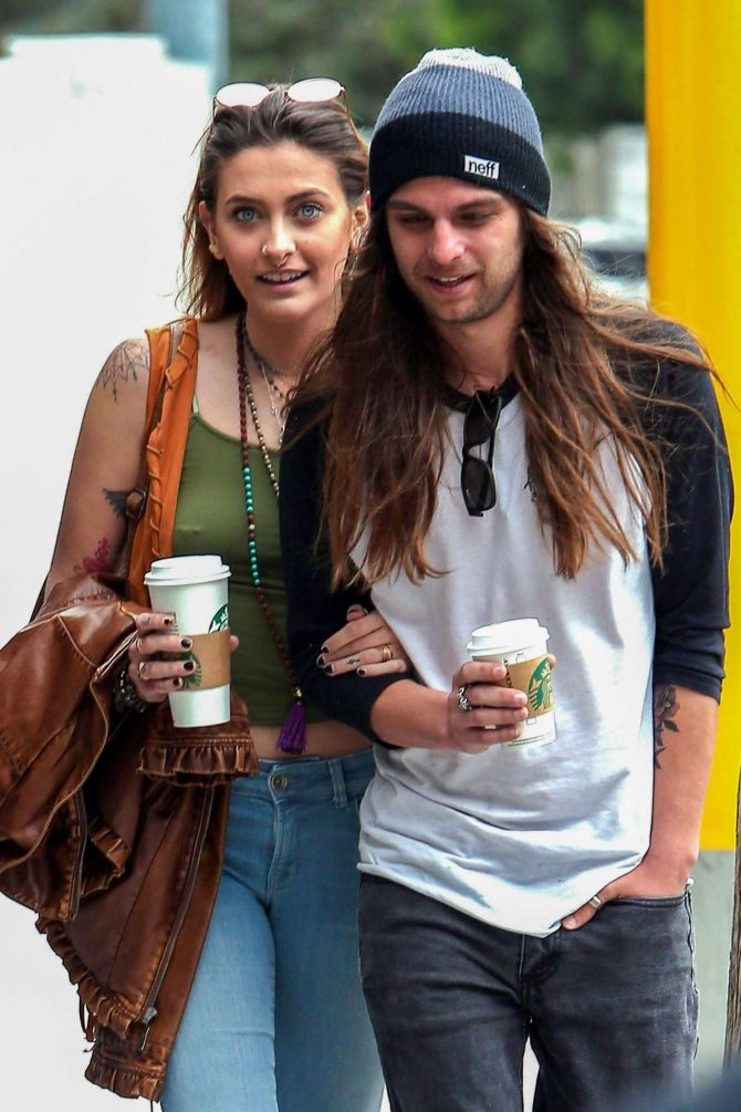 Paris Jackson and boyfriend Gabriel Glenn on a coffee run in West Hollywood