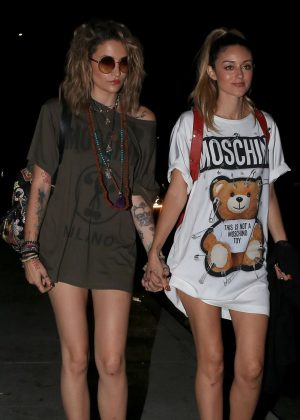 Paris Jackson and DJ Caroline D'Amore - Attending the Moschino afterparty in Hollywood