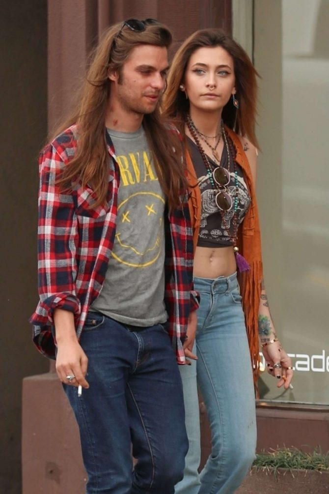 Paris Jackson and Gabriel Glenn on Melrose Place in Los Angeles