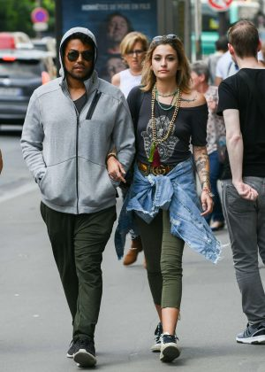 Paris Jackson and her cousin TJ Jackson out in Paris