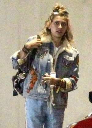 Paris Jackson at Nobu restaurant with friends in Malibu