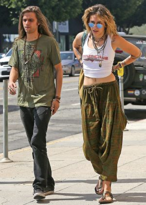 Paris Jackson at Starbucks with a friend in Los Angeles
