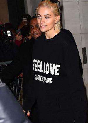 Paris Jackson at the Givenchy fashion show in Paris