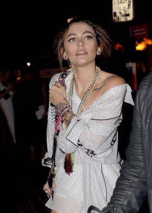 Paris Jackson - Attends at Christian Dior dinner in Paris
