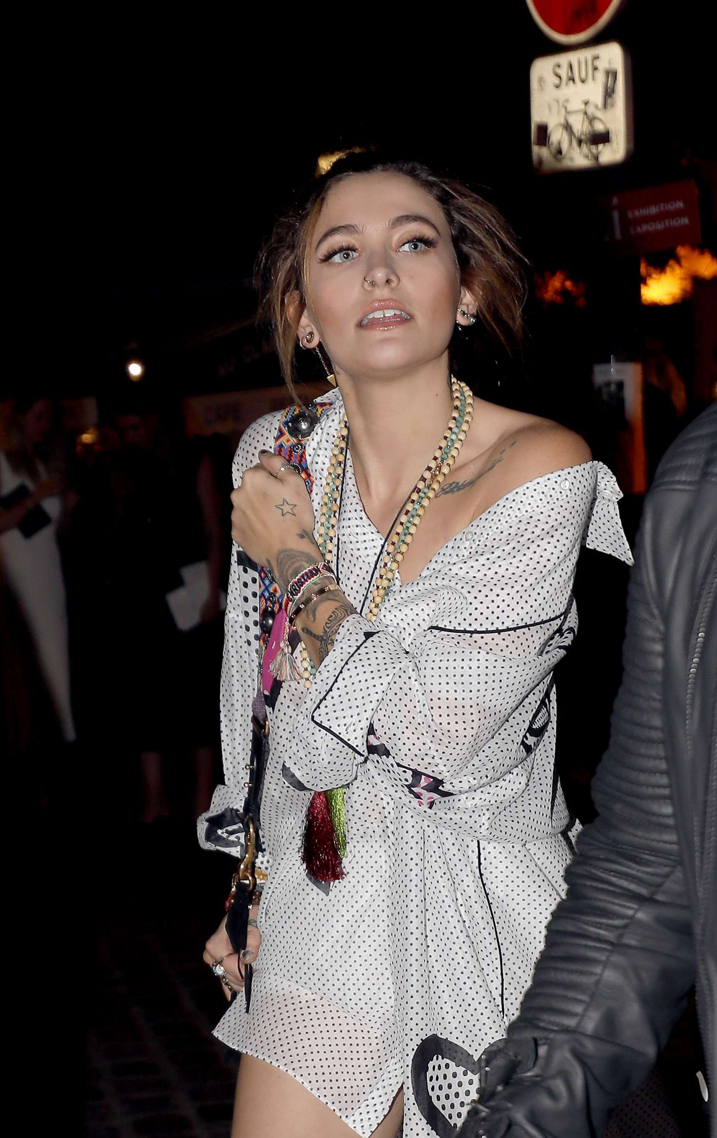 Paris Jackson – Attends at Christian Dior dinner in Paris