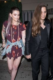Paris Jackson in Foral Mini Dress at Delilah in West Hollywood
