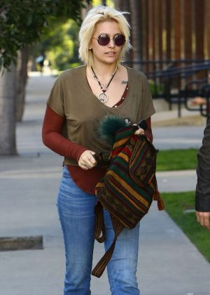 Paris Jackson in Jeans Out in Los Angeles
