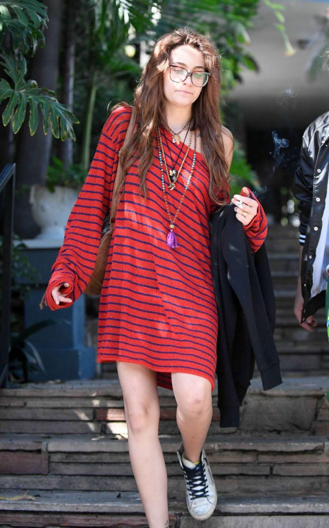 Paris Jackson in Red Dress - Out in Los Angeles